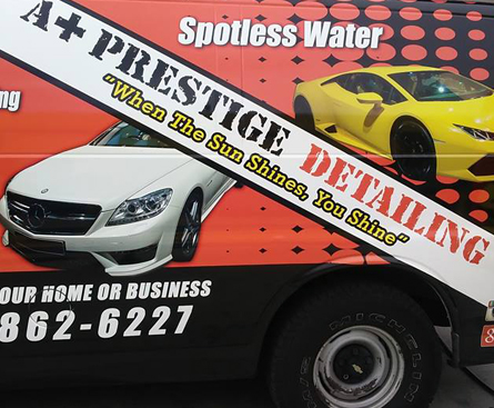 Mobile Detailing Company's Service Vehicle in Tampa, FL
